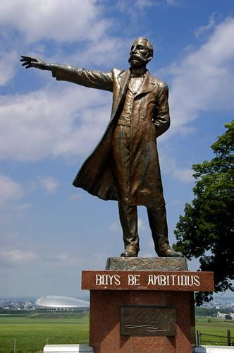 """""""Boys, Be Ambitious!"""" - Statue of Dr"""