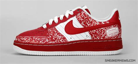 Nike Air Force 1 GS - Composition Book - Red - White