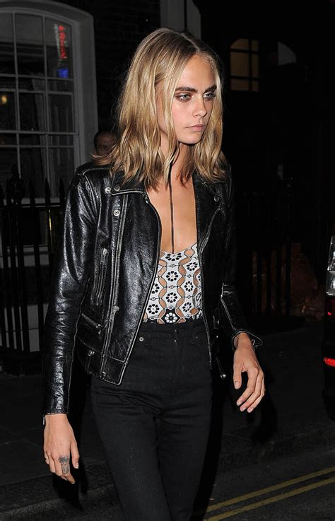Cara Delevingne at Burberry show during London Fashion