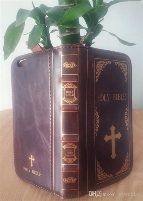 Holy Bible Case For IPhone X Leather Wallet Case For