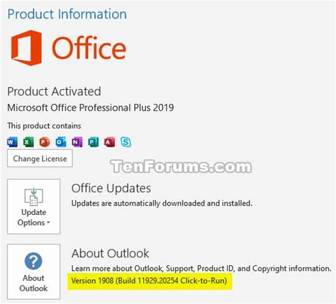 Office 365 Monthly Channel v1908 build 11929