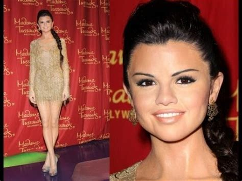 Selena Gomez Wax Statue at Hollywood Madame Tussauds - YouTube