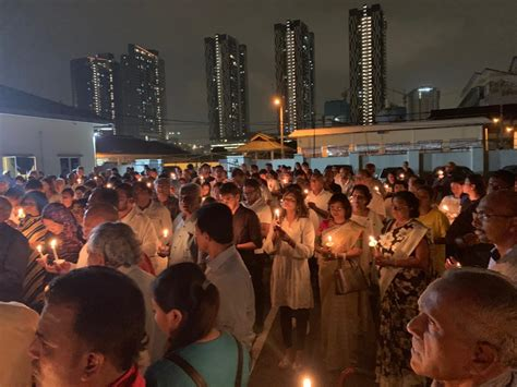 Ceylonese Community in Malaysia Organised a Candlelight