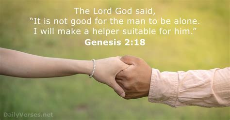 July 4, 2018 - Bible verse of the day - Genesis 2:18