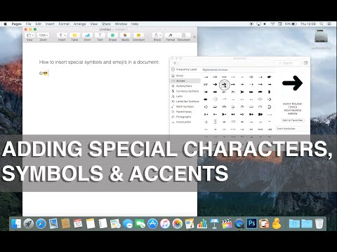 Inserting Symbols and Special Characters in Office 2011