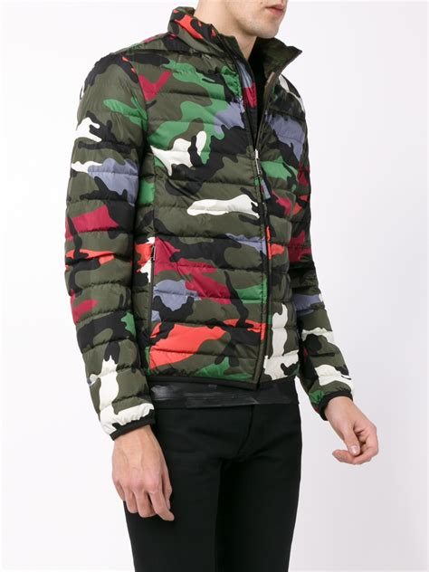 Valentino Reversible Camouflage Padded Jacket for Men - Lyst