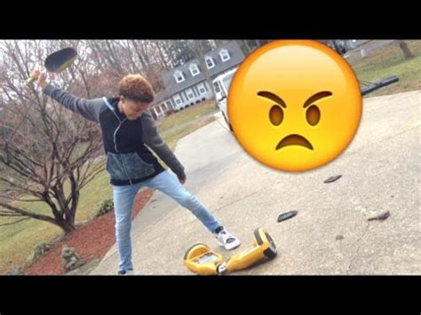 Destroying My Golden HOVERBOARD!!!! - YouTube