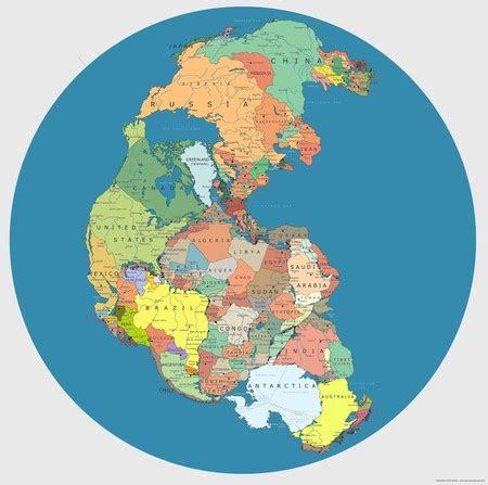 This Map Shows What the World Would Look Like if Pangea