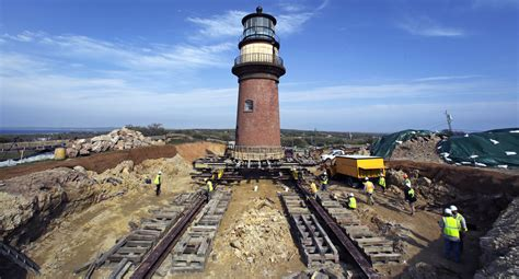 Iconic Martha's Vineyard lighthouse begins move from